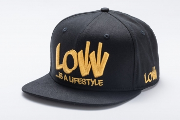 LOW iS A LiFESTYLE® Statement Snapback - Gold-Black