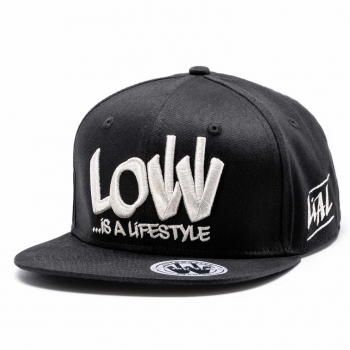 LOW iS A LiFESTYLE® Statement Snapback - Silver-Black