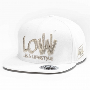 LOW iS A LiFESTYLE® Statement Snapback - Silver-White