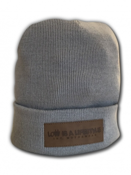 LOW iS A LiFESTYLE® Classic Beanie - Hellgrau