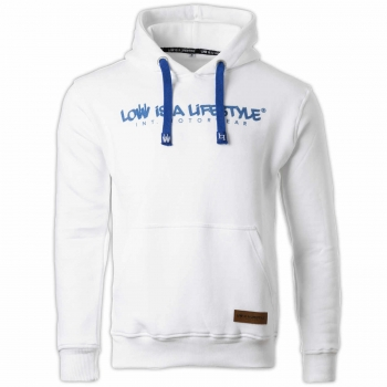 LOW iS A LiFESTYLE® Statement Hoodie - White/Blue