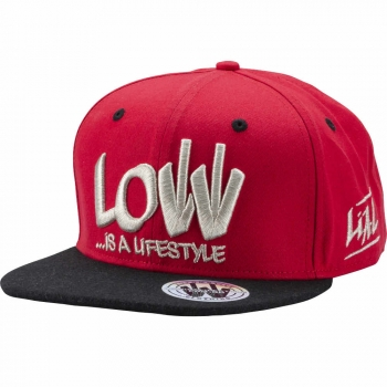 LOW iS A LiFESTYLE® Statement Snapback - Silver-Red
