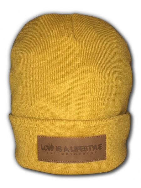 LOW iS A LiFESTYLE® Classic Beanie - Senfgelb