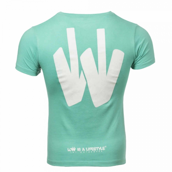 LOW iS A LiFESTYLE® SUMMERCOLLECTION Girls-T-Shirt - Türkis