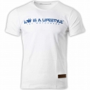 LOW iS A LiFESTYLE® Statement T-Shirt - White/Blue